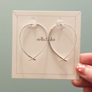 Pave Arc Earrings